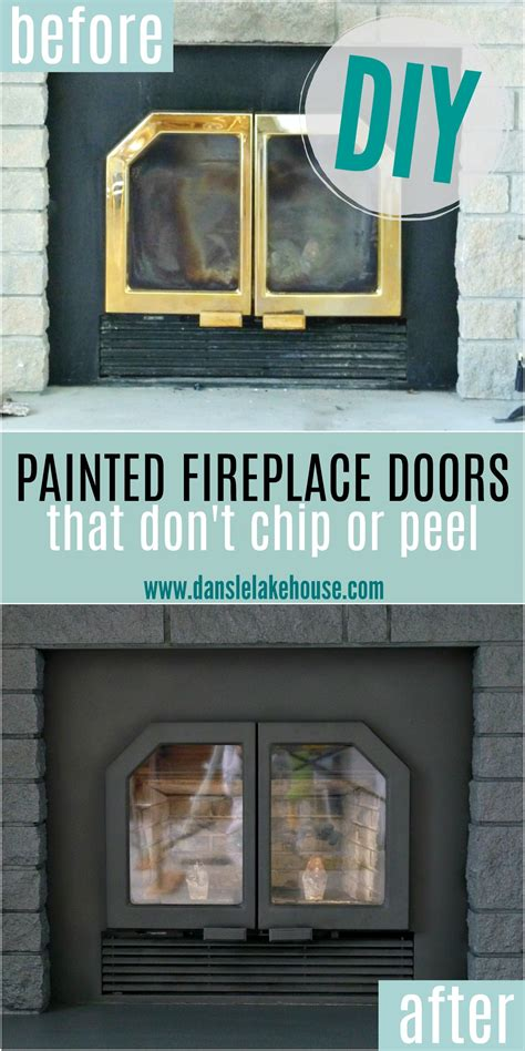 Fireplace Door Paint - how to paint fireplace doors and vents dans le lakehouse