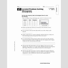 Leveled Problem Solving Histograms Worksheet For 5th  6th Grade  Lesson Planet