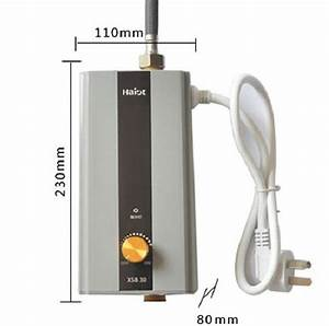 3 500w Instant Mini Electric Water Heater  Silver Black