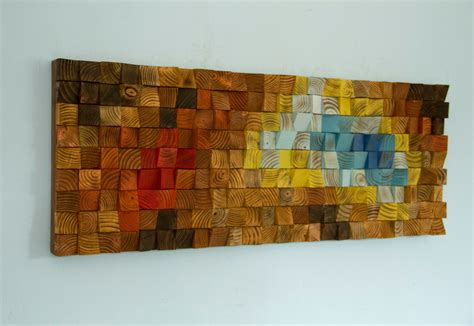 wood wall art reclaimed wood art mosaic quot the northern