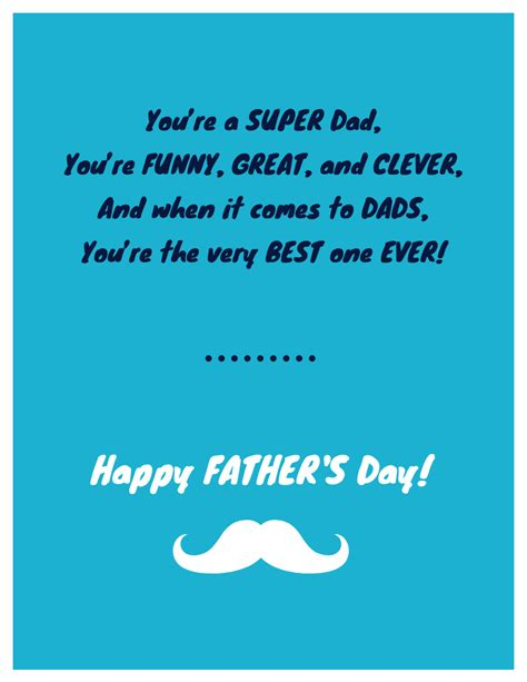 cool fathers day card templates funny  heartfelt