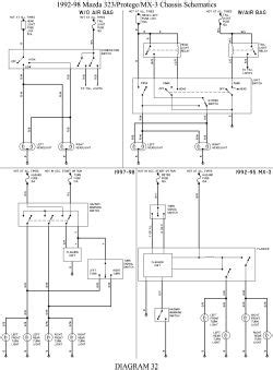 Mazda 626 Gf Wiring Diagram by 1992 Mazda 323 Cooling Fan System Wiring Diagram Wiring