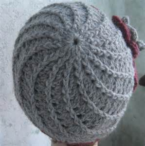 Free Crochet Spiral Hat Patterns with Flowers