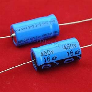 3pcs Axial Electrolytic Capacitor 16uf 450v Tube Amp Diy