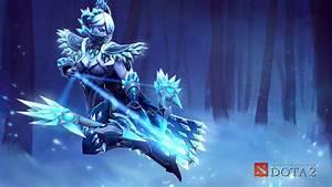 Drow Ranger The Shadow Of Ice Drow DOTA 2 Wallpapers