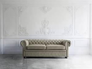 canape en cuir gris beige chesterfield belianifr With canapé chesterfield cuir beige