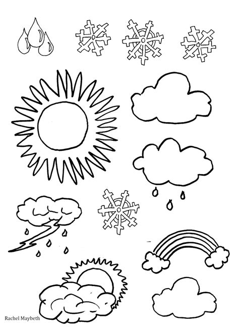 weather color maybeth free weather clipart coloring pages