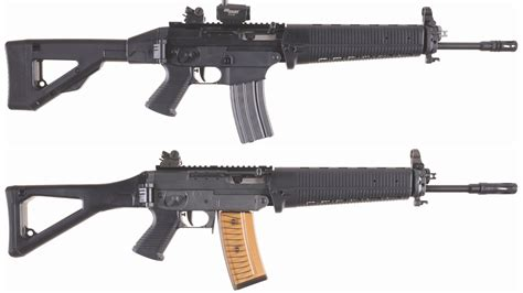 Two Sig Sauer Semi-Automatic Rifles