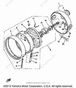 Yamaha Motorcycle 1976 Oem Parts Diagram For Headlight