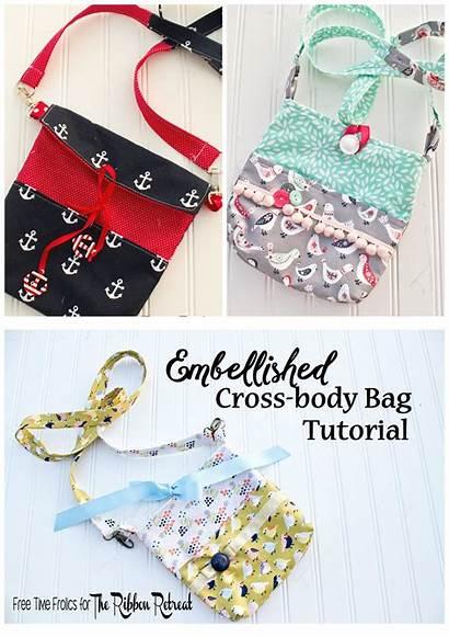 Bag Tutorial Cross Embellished Sewing Freetimefrolics Need