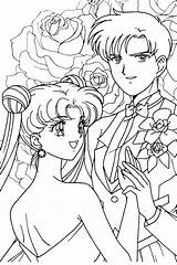 Coloring Pages Anime Sailormoon Usagi Mamoru Moon Sailor Princess Bride Mermaid Paint Sheets Colouring Manga Drawing Adult Printable Couple Books sketch template