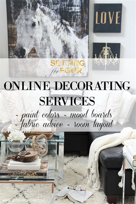 decorating services color advice setting for four