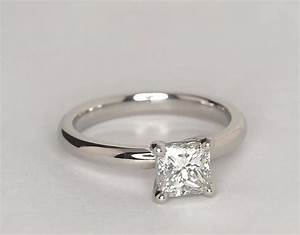 classic comfort fit solitaire engagement ring in platinum With wedding rings that connect