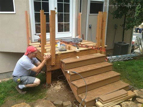 Notching Deck Boards Around Posts by Diary Of A Crafty Building A Deck A Power Tool Project