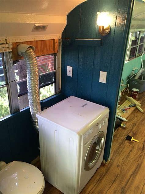 washerdryer     skoolie bathroom area