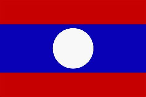 Flagge Laos, Fahne Laos, Laosflagge, Laosfahne, laotische ...