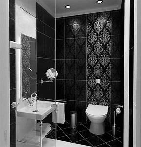 48 Lovely Black And White Bathroom Tiles Ideas | Small ...