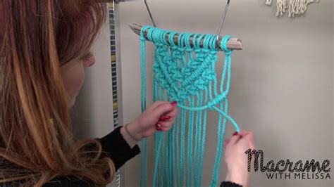 diy macrame tutorial beginner wall hanging diamond