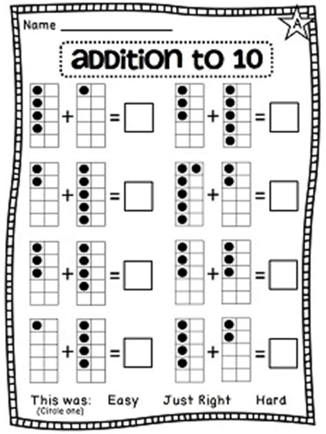 grade math unit 3 addition to 10 ten frames