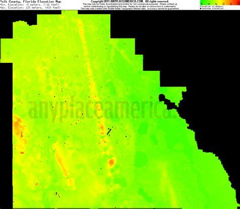 free polk county florida topo maps elevations