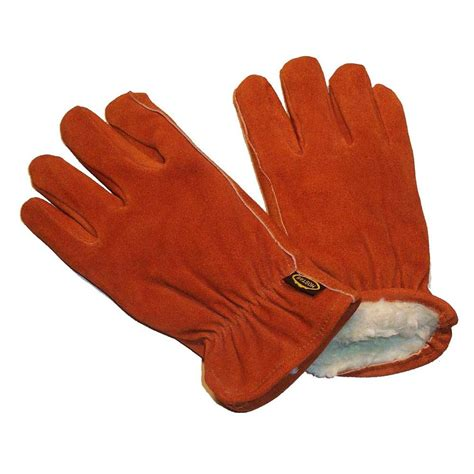 Cowhide Leather Gloves by G F Products Suede Cowhide Large Leather Gloves With