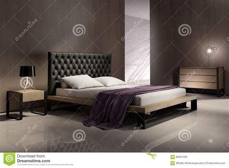 chambre en bois intérieur moderne de chambre à coucher avec les murs en