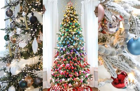 ideas  beautiful  festive christmas tree decorations