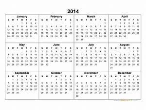 2014 calendar blank calendar for Ms excel calendar template 2014