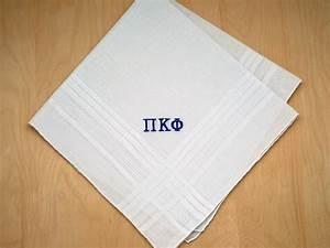 Fraternity Greek Personalized Mens Handkerchief