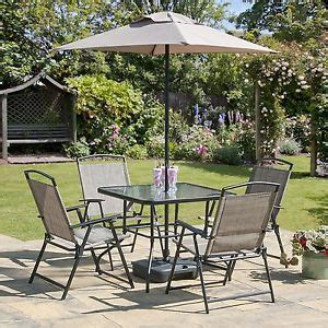 Garden Table And Chairs With Umbrella by Oasis Patio Set Outdoor Garden Furniture 7 Folding