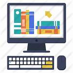 Library Digital Icon Learning Education Icons Ebook