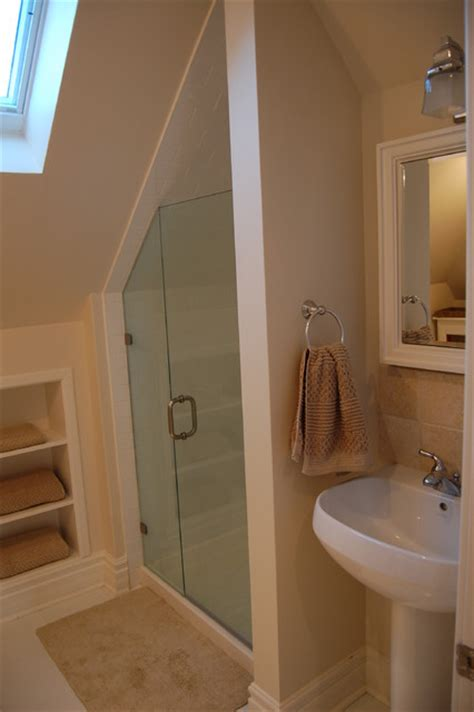 attic stairs for small spaces attic renovations contemporary bathroom toronto by