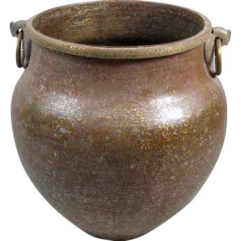 large south indian hammered copper water storage pot eron johnson antiques rubylux