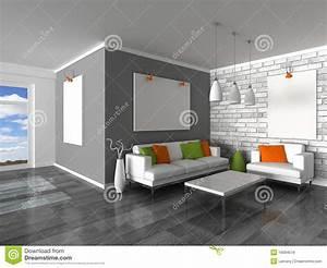 Mur Blanc Et Gris : int rieur de la salle moderne du mur gris et du s blanc images libres de droits image 19094519 ~ Preciouscoupons.com Idées de Décoration