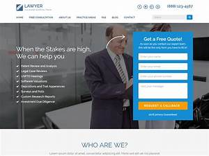 wordpress squeeze page template - lawyer landing page