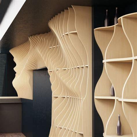 parametric wall  behance wood work   meuble