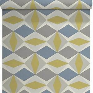 Papier Peint Repositionnable : papier peint vinyle sur intiss ecorce losange gris ~ Zukunftsfamilie.com Idées de Décoration