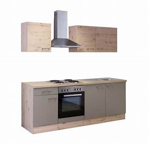Küche 210 Cm Mit Geräten : k chenzeile riva k che mit e ger ten 10 teilig breite 210 cm bronze metallic k che ~ Indierocktalk.com Haus und Dekorationen