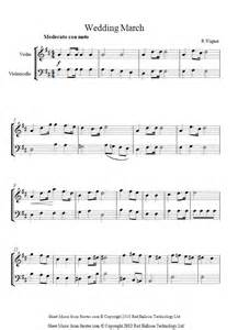 wedding march wagner wedding march sheet for violin cello duet 8notes