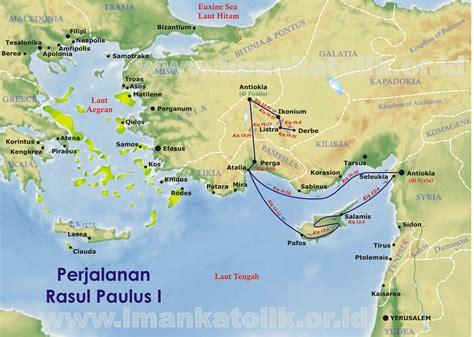 data hakekat peta perjalanan rasul paulus