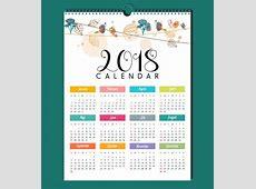 Elegant Calendar 2018 Design Calendar 2018