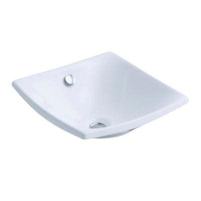 vessel sink drain home depot kohler escale fireclay vessel sink in white with overflow