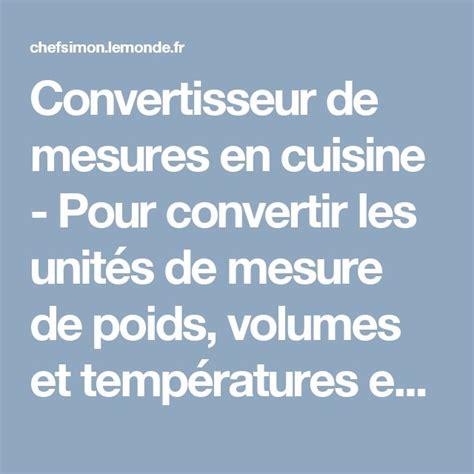 equivalence poids et mesure en cuisine 17 meilleures id 233 es 224 propos de tableau de conversion de