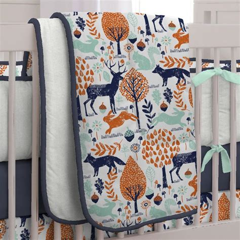 decorative pillow sets clearance navy and orange woodland crib bedding carousel designs