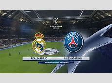 Real Madrid vs Paris SaintGermain 14022018 UEFA