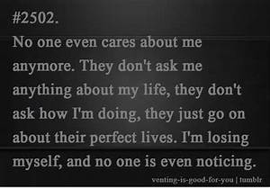 no body cares about me
