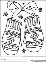Coloring Preschool Winter Colouring Printable Sheets Sheet Mittens Adults Timeless Miracle Snow Adult Holiday Happy Cut Season Theme Mitten sketch template