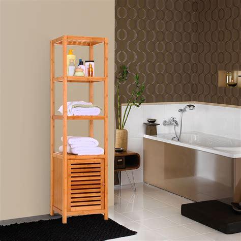 allieroo bamboo bathroom shelf  tier multi functional