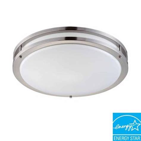 hton bay 2 light brushed nickel fluorescent ceiling