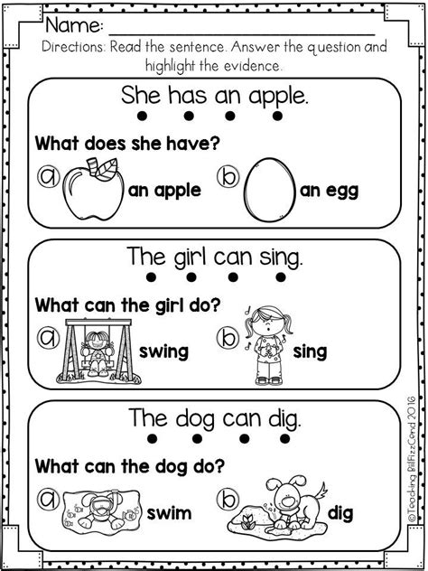reading comprehension  early reader set  reading
